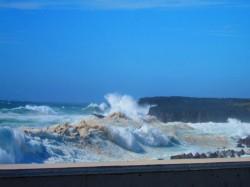 台風18号 錆ヶ浜。