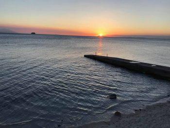 ソンブレロ島に沈む夕陽、今日も楽しいダイビングが出来ました。