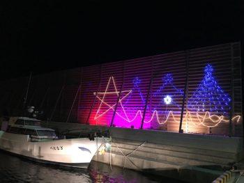 白浜港のクリスマスイルミネーション